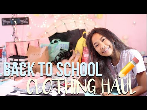BACK TO SCHOOL CLOTHING HAUL 2017!!