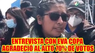 EVA COPA AGRADECIÓ A LA CIUDAD DEL ALTO POR EL APOYO DEL 70% DE VOTACIÓN ...