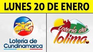 Resultados Lotería de CUNDINAMARCA y TOLIMA Lunes 20 de Enero de 2020 | PREMIO MAYOR ????????????