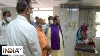 CM Yogi inspects Lucknow's Ram Manohar Lohia hospital - INDIATV