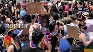 USA: Black Trans Lives Matter protest attracts thousands of New Yorkers