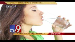 Water before tea or coffee good for health ?