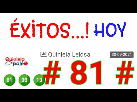 SORTEOS de HOY...! (( 81 )) loteria LEIDSA/BINGO HOY/ NÚMEROS que mas SALEN ÉSTE MES/UN SÓLO NÚMERO