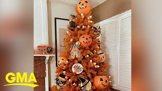 Decorate a Halloween tree this year to channel your inner hallow-queen amid COVID-19 l GMA Digital