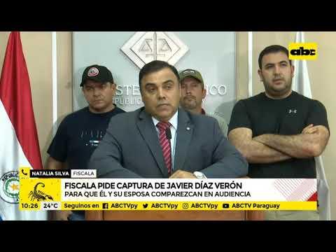 Fiscalía pide orden de captura para Javier Díaz Verón y su esposa