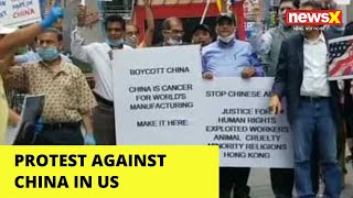 Indian Americans protest against China in US | NewsX - NEWSXLIVE