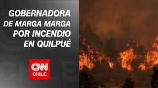 """Gobernadora Corti: """"Son incendios que están preparados, no son de personas que no conocen el sector"""""""
