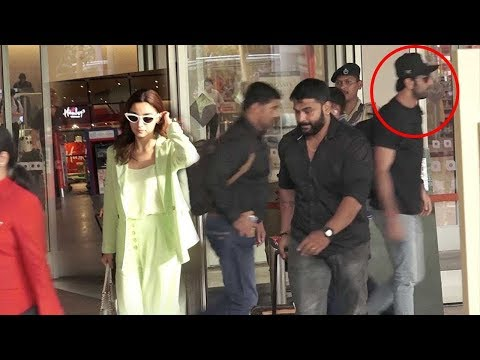Ranbir Kapoor and Alia Bhatt IGN0RING Each Other After F!IGHT & Walk Away Seperately Airport SPOTTED