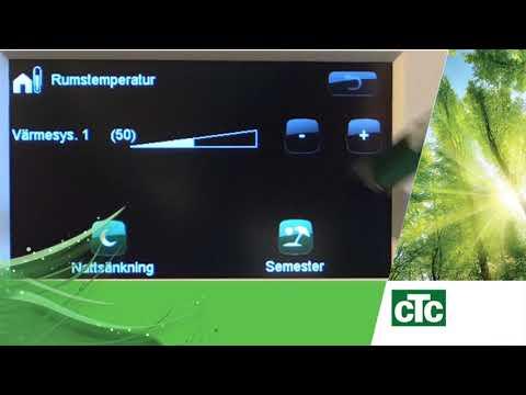 Grundläggande inställningar för rumstemperatur för CTC GSi, CTC EcoZenith eller CTC EcoHeat