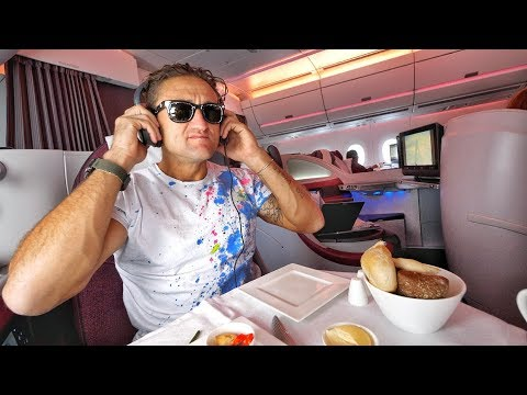 connectYoutube - QATAR AIRWAYS A350 BUSINESS CLASS REVIEW; INCREDIBLE