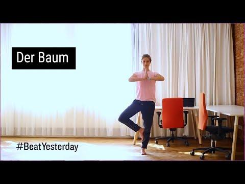 """Sportliche Mittagspause - Yogaübung """"Der Baum"""""""