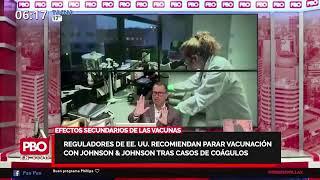 PBO - Reguladores de EEUU recomiendan parar vacunación con Johnson & Johnson tras casos de coágulos