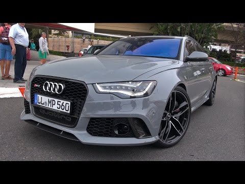 Nardo Grey Audi RS6 Avant w/ Audi Option Sport Exhaust!