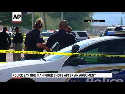 Woman shot dead outside Phoenix motel, five hurt