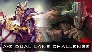 Dota 2 A-Z Dual Lane Challenge - Juggernaut and Keeper of the Light
