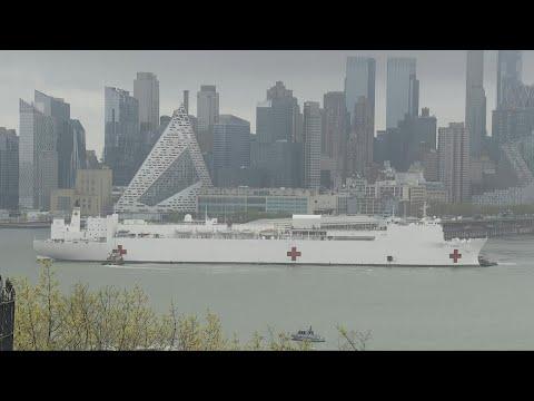 USNS Comfort hospital ship leaves New York as number of virus cases decline   AFP photo