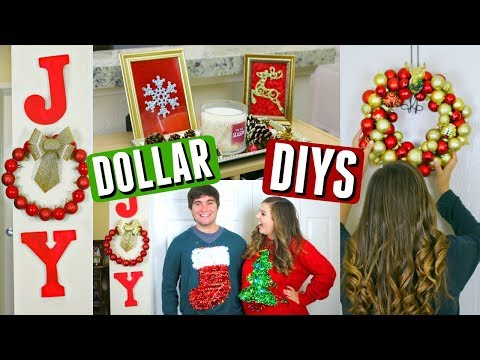 DIY Dollar Tree Christmas Decorations! Cheap Holiday Decor DIYs!