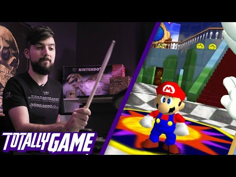 World Record Holder Plays Mario 64 - Using His Drums  | TOTALLY GAME