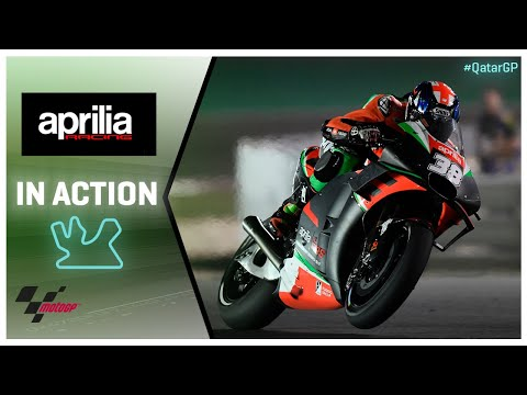 Aprilia in action: VisitQatar Grand Prix