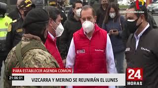 Presidente Vizcarra confirma que este lunes 28 se reunirá con el titular del Congreso