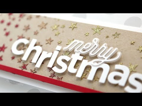 Holiday Card Series 2018 – Day 9 – Glitter Paste & Die Cut Letters