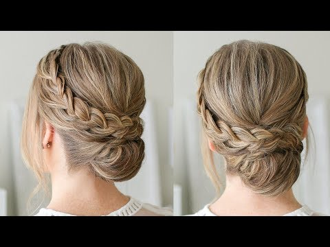 Double Braid Wrapped Roll Bun | Missy Sue