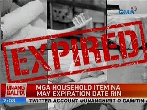 UB: Mga household item na may expiration date rin