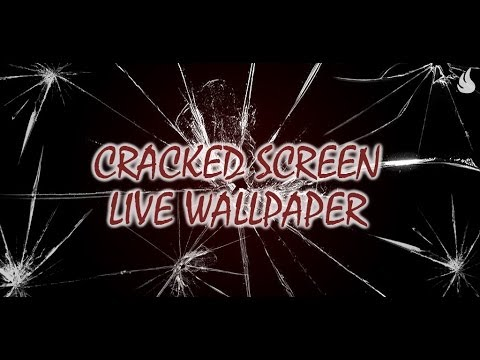 Cracked Screen Live Wallpaper Video