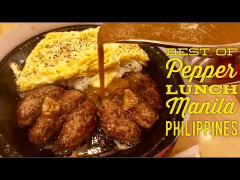 Best of Pepper Lunch Manila Philippines: Giant Ribeye Steak Beef Pepper Rice etc.