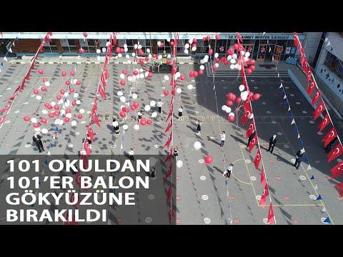 İstanbul'da 23 Nisan'da 101 Okuldan 101 Balon Gökyüzüne Bırakıldı