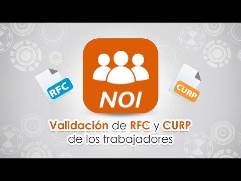 Validación de RFC y CURP de los trabajadores