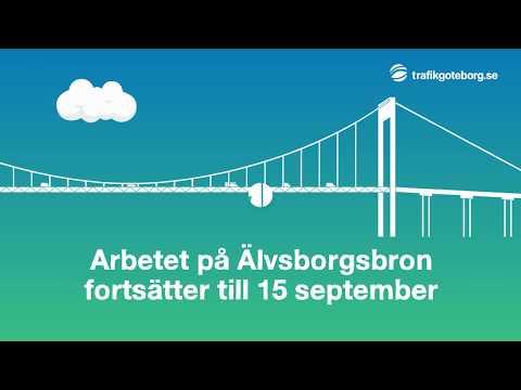 Arbetet på Älvsborgsbron fortsätter till 15 september