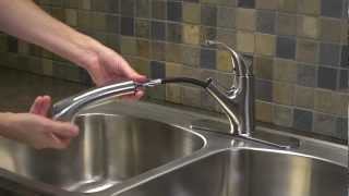 Installing A 1 Handle Pull Out Kitchen Faucet Shelton Collection Youtube