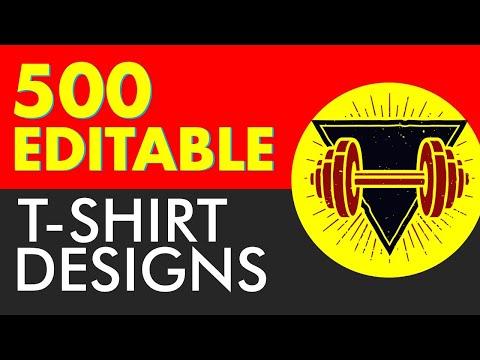 500+ Editable T-Shirt Designs