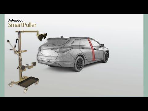 Autorobot SmartPuller - Dent pulling of vehicle side structures