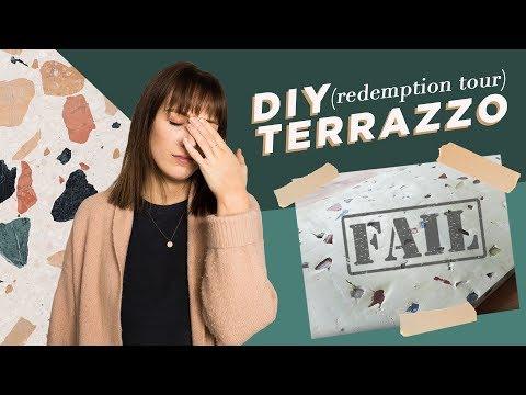 Reattempting my DIY terrazzo FAIL (it worked!)