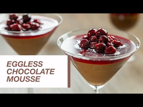 Eggless Chocolate Mousse with Sour Cherry Compote   Food Channel L Recipes