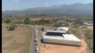 Extensas fila en entrada a la ciudad de Comayagua