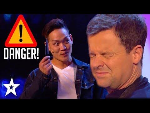 Video: Turbūt pavojingiausias kortų - triukas, kurį teko kada nors matyti