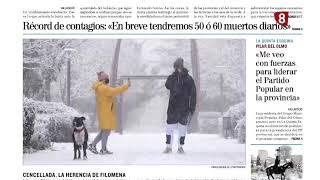 Titulares de El Mundo Diario de Valladolid 15 de Enero de 2021