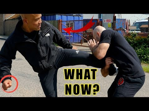 How to counter leg grab in self defense | Master Wong