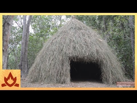 Primitive Technology: Grass hut Poster