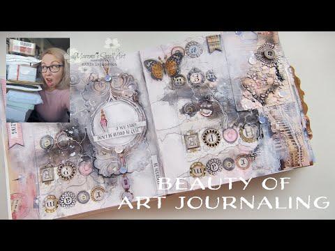 Random Art Supplies from SUBSCRIBERS Art Journaling with NAPKIN #6 ♡ Maremi's Small Art ♡