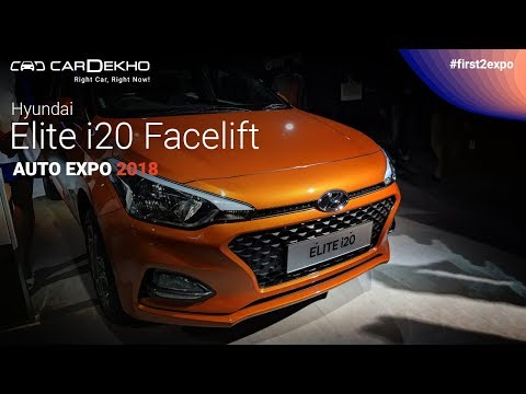 Hyundai Elite i20 Facelift Launched At Auto Expo 2018