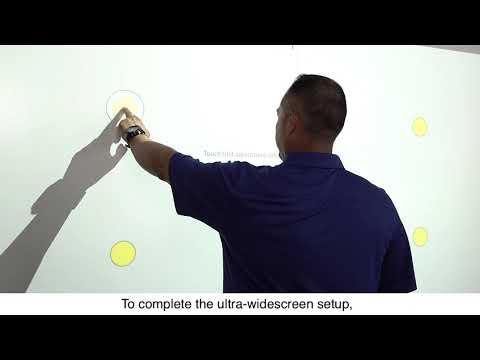 Epson EB-1485Fi Projector Installation Guide #11 - Configure a 16:6 Image
