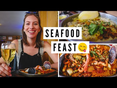 Mouth Watering ARGENTINE SEAFOOD Lunch! | Visiting PUERTO MADRYN, Argentina