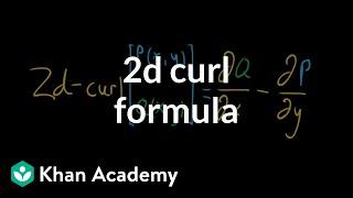 2d curl formula
