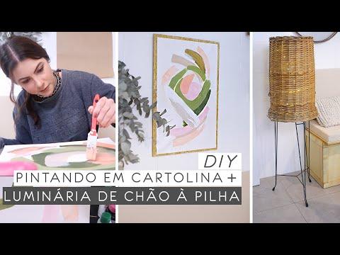 DIY Quadro c: Cartolina + Luminária Decorativa   Decorando a cozinha 05