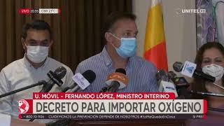 Gobierno anuncia importación de oxígeno ante la escasez en La Paz y otros departamentos