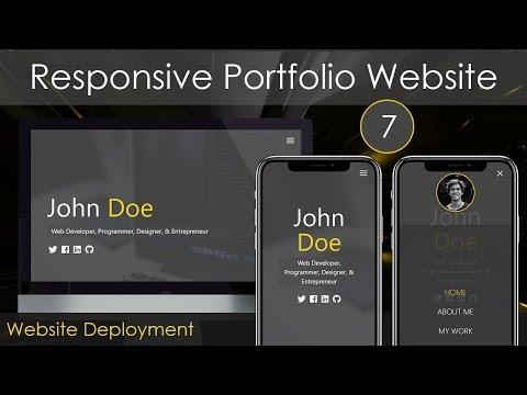 Responsive Portfolio Website [7] - Website Deployment